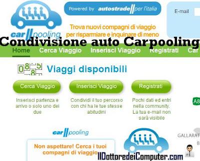 carpooling autostrade per l'italia