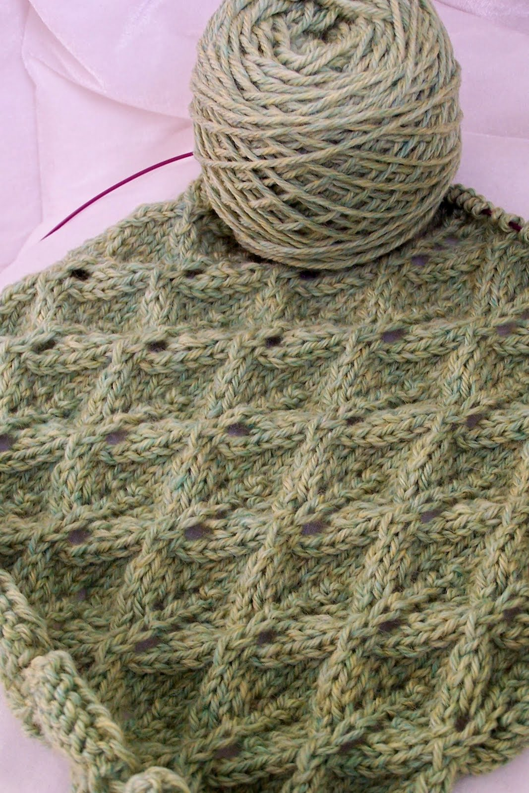 Sweet Chatter That Matters: Lovely Leaf Lace Scarf