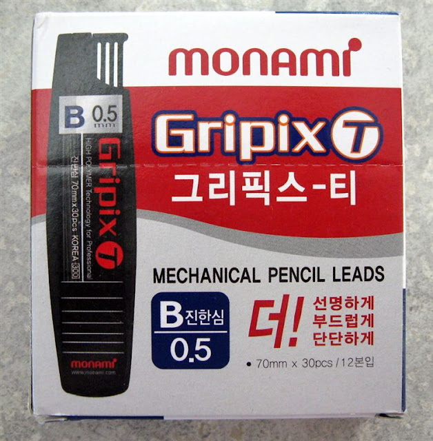 front of monami gripix-t lead refill package