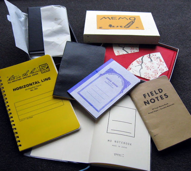 selection of notebooks