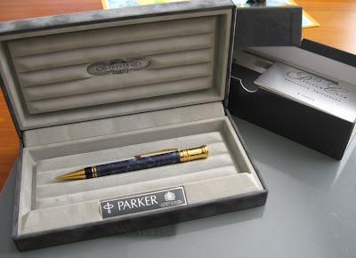 Parker Duofold Centennial pencil presentation case
