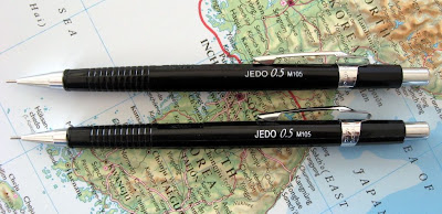 eMicro Jedo M105 mechanical pencil old and new