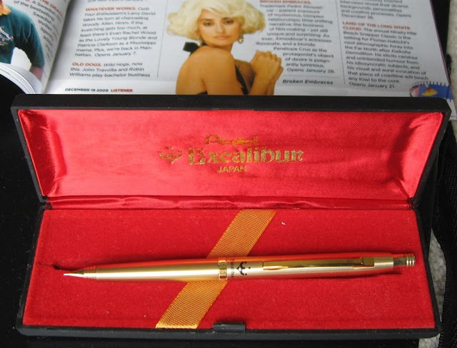 pentel excalibur gold pencil