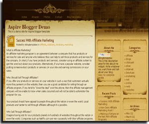 Aspire - Blogger Template