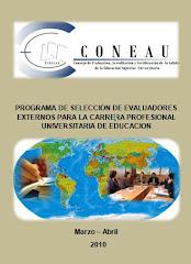 CONVOCATORIA PARA EVALUADORES EXTERNOS - EDUCACIÓN