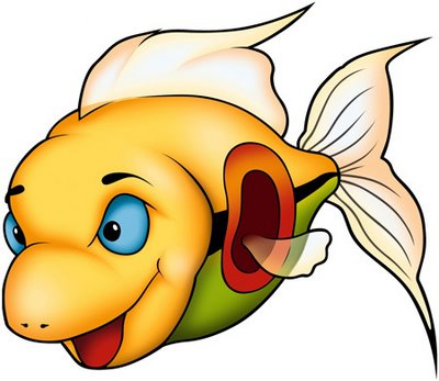 cartoon fish yellow