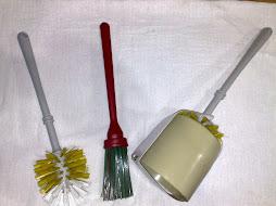 Vassoura pra vaso sem pote, simples e com pote