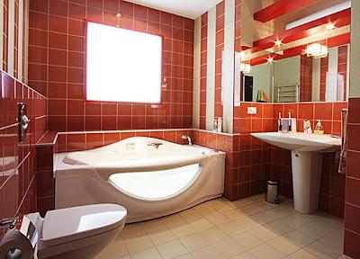 ванная комната в красном цвете - яркий.