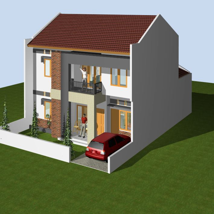 Modern minimalist house design with 3d max new living House designer 3d