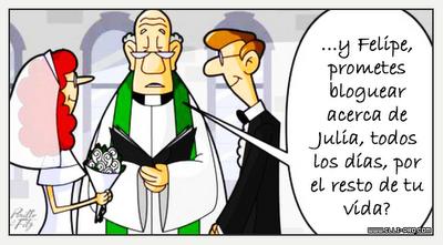 Imagen de un matrimonio de un blogger