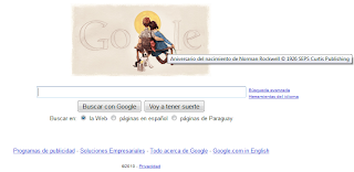 Logo de Google 03-02-2010 - Nacimiento de Norman Rockwell