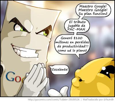 Imagen del malvado plan de Google con PAC-MAN