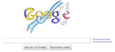 Imagen del Doodle de google por el bicentenario de la independencia de Argentina