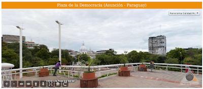 Imagen de la Plaza de la Democracia (Asunción - Paraguay)