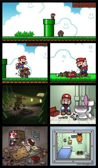 Imagen del otro final de Super Mario
