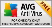 Imagen de una promoción del AVG Antivirus 9.0 GRATIS por un día
