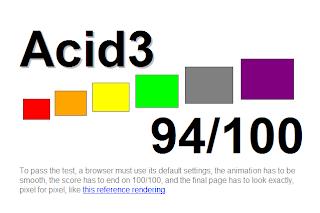 Imagen del the acid test con firefox 3.6.9