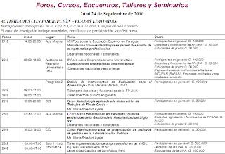 Imagen del programa sobre los Foros, Cursos, Encuentros, Talleres y Seminarios