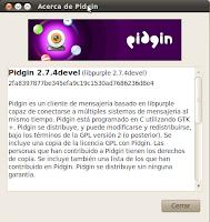 Imagen de Pidgin 2.7.4 en Ubuntu 10.04