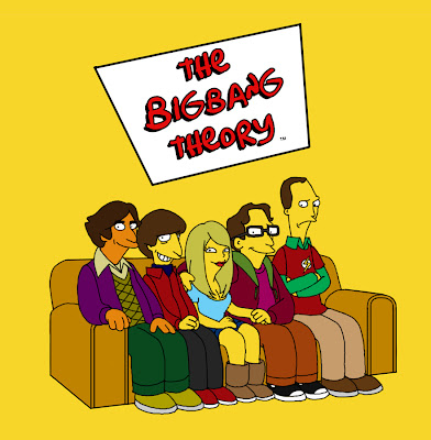 Imagen de The Big Bang Theory al estilo Simpson