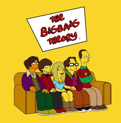 Imagen de The Big Bang Theory al estilo Simpson
