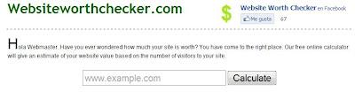 Imagen del sitio website worth checker
