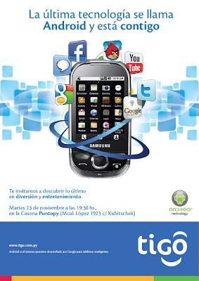 Imagen del lanzamiento de un dispositivo con Android en Asunción - Paraguay