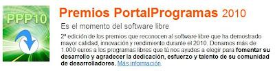 Imagen del logo de los premios Portal Programas 2010