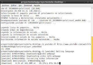 Imagen de bajar vídeos de youtube en Ubuntu 10.04