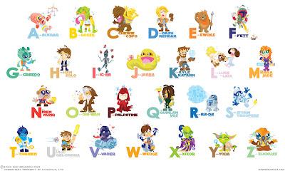 Imagen del abecedario de Star Wars