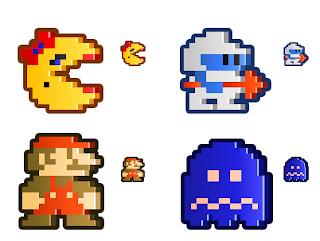 Imagen de juegos clásicos pixelados