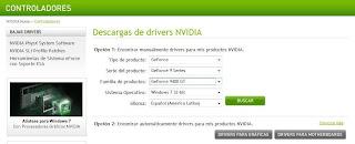 Imagen del sitio oficial de nvidia