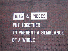 Bits & Pieces Put Together to Present a Semblance of a Whole, by Lawrence Weiner