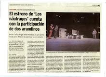 """Estreno de """"Los Náufragos"""".Artículo en La voz de León"""