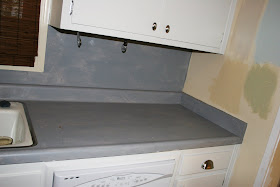 rocky bella before after painting my countertops. Black Bedroom Furniture Sets. Home Design Ideas