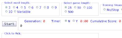 Itatsi game Weasel algorithm blind watchmaker