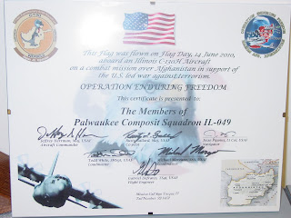 Palwaukee composite squadron december 2010 for Air force certificate of appreciation template
