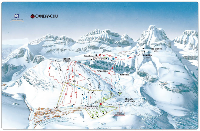 Mapa de Pistas de Candanchu
