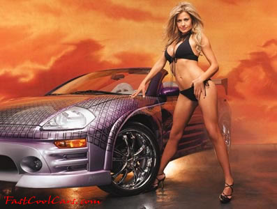 Sexy girls in fast cars busty female