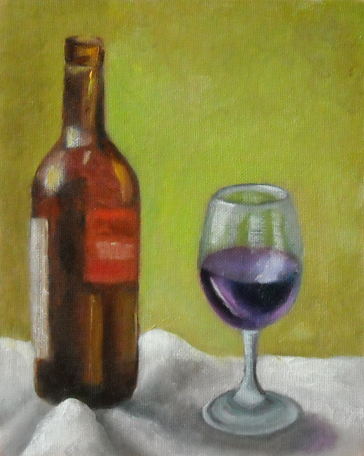 A painting journal by virginia floyd bottle of red for Paint vino
