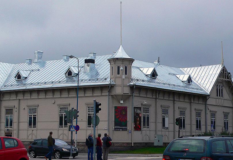 kajaani finlandia region oulu tejado teulada estacio estacion railway station tren