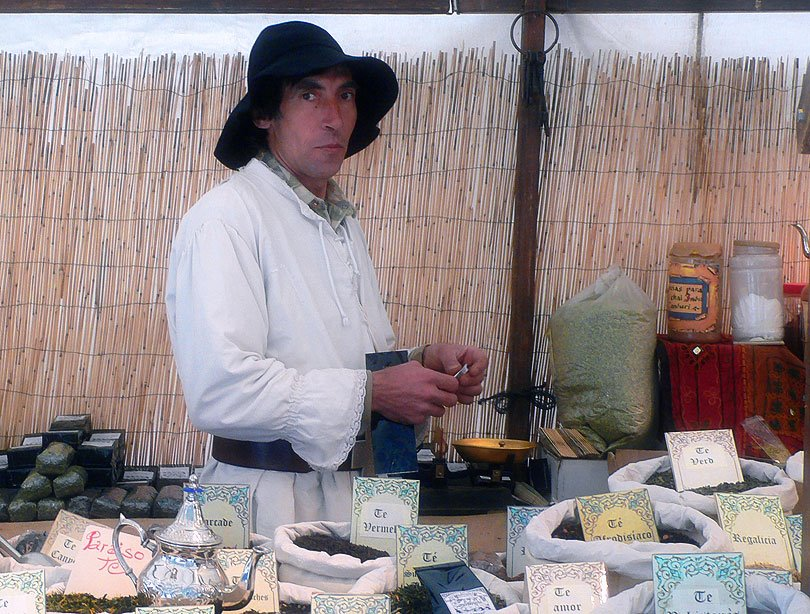 te tendero venedor tea medieval vic fira feria