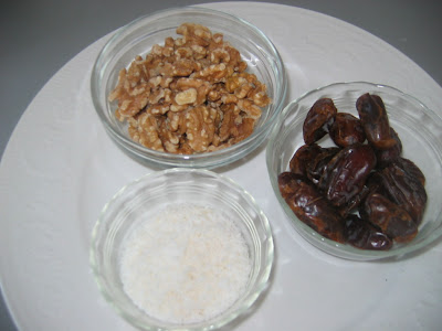 Carob, dates and walnuts are healthy stuffs