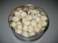 ammini Kozhakattai with rice and salt
