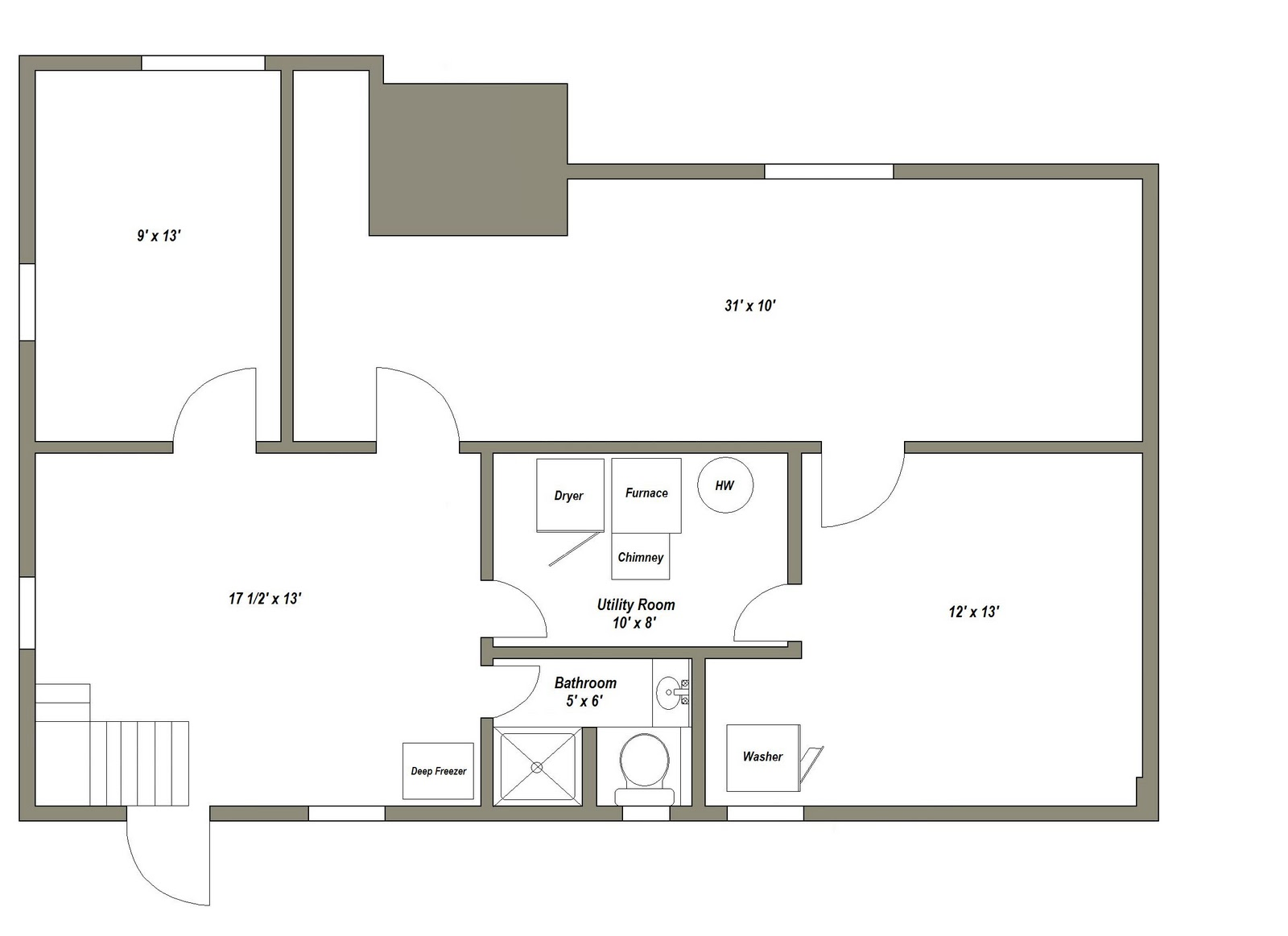Small house floor plans with basement for Small house floor plans with basement