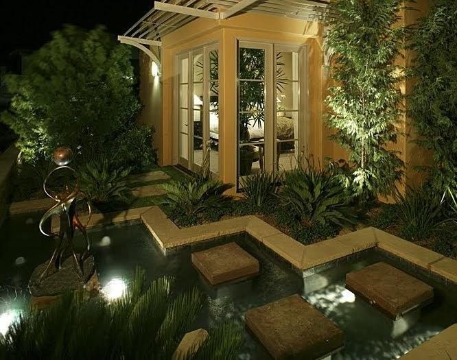 Los elementos de un jard n iluminaci n de exteriores y jardines - Iluminacion jardines pequenos ...
