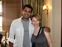 Virginia with lovely Azhar Bilakhia from her Deccan Chargers shoot