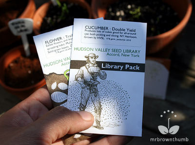Library pack from Hudson Valley Seed Library