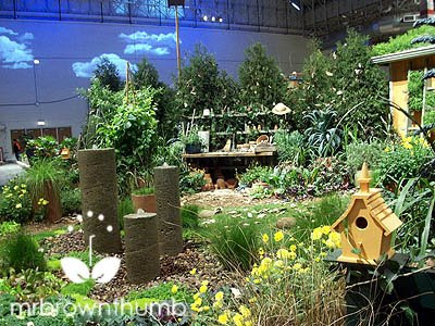 Yellow House, living wall, Chicago Flower & Garden Show