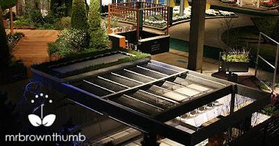 detail view of rooftop garden of the future, Chicago Flower & Garden Show